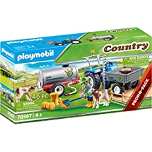 PLAYMOBIL Country 70367 Loading Tractor with Water Tank, Age 4 Years and Above
