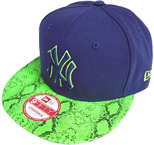 New Era New York Yankees Reptivize Navy Green Strapback Cap Basecap One Size