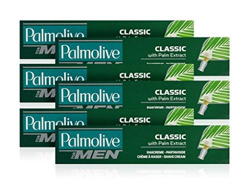 Kakao-butter Großhandel (Palmolive Classic Schaum Shave Cream Rasiercreme mit Palm Extrakt 100ml (6Stück))