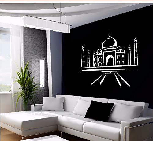 Zxfcczxf VinylWandaufkleber Asian Oriental Themed Wandkunst Removable Home Decoration Gebäude Design Wandtattoo 55 * 60 Cm