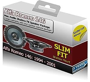 Porte arrière ALFA ROMEO 146Orateurs Mac Audio Mac Audio slim fit peu profondes Haut-parleurs de voiture 200W