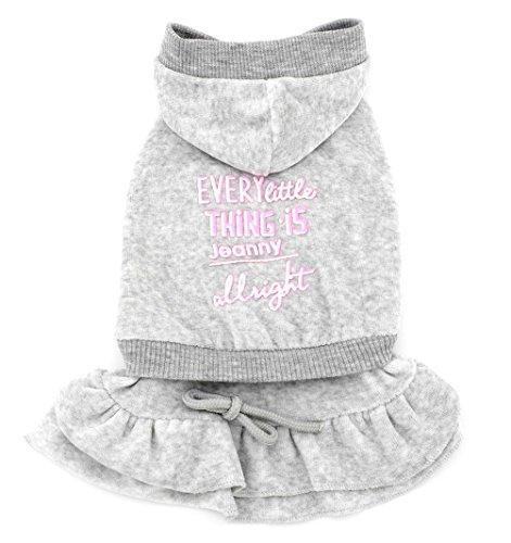 Ropa para perros pequeños Smalllee_Lucky_Store, sudadera con forma de vestido con plisados, ropa de princesa de terciopelo
