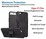 Oppo F3 Plus Cover , Oppo F3 Plus Back Cover , Oppo F3 Plus Mobile Cover - Shock Proof Protective Rugged Armor Super Hybrid Heavy Duty Back Case Cover (Black) By FurnishFantasy™