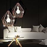 2er Set Retro Stil LED Pendel Lampen Käfig Design Wohn Ess Zimmer Decken Hänge Strahler kupferfarben