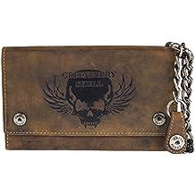 ebb08050c63d02 Greenburry Vintage Leder Bikerbörse mit Kette Geldbörse Geldbeutel Biker  Wallet BV-1820S-25-
