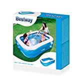 Bestway Family Pool Blue Rectangular, 201x150x51 cm -