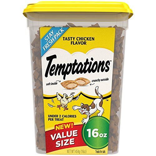 TEMPTATIONS Classic Treats for Cats Tasty Chicken Flavor, 16 Ounces by Mars Petcare Us