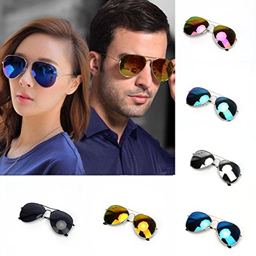 Classic Mirrored Pilot Aviator Fashion Sunglasses Shades Sunnies Women Men VOSO