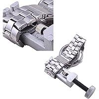 Wrone (TM) regolabile della fascia del braccialetto della vigilanza di riparazione di Pin di collegamento del dispositivo di rimozione con due pezzi di Pins - Metallo Link Guarda