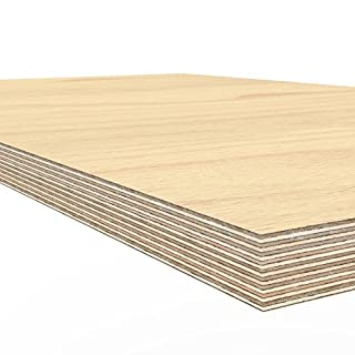 AUPROTEC Plywood board 1500 x 700 x 30 mm worktop glued hardwood multiplex ground and oil-impregnated high-grade multi layer ply wood sheets for workbench work / packing table counter top