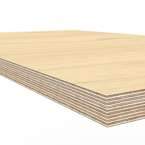 Price comparison product image AUPROTEC Plywood board 1500 x 600 x 40 mm worktop glued hardwood multiplex ground and oil-impregnated high-grade multi layer ply wood sheets for workbench work / packing table counter top