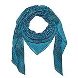 Superfreak® Baumwolltuch Indisches Muster 1 Mehrfarbig Lurex - Tuch - Schal - 100x100 cm - 100% Baumwolle Farbe: türkis
