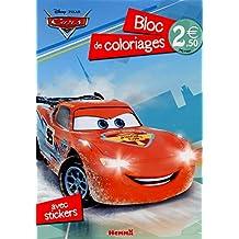 Cars 2 - Bloc de coloriages avec stickers