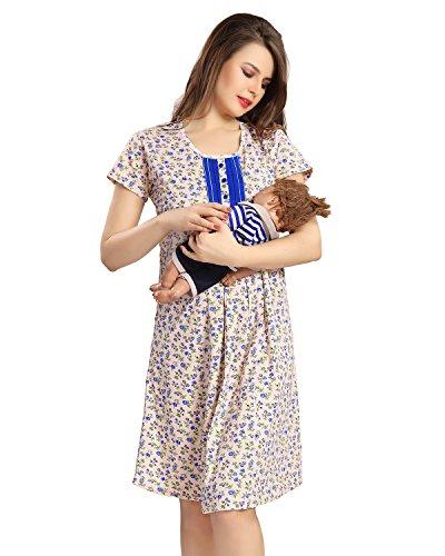 AV2 Women Cotton Maternity & Feeding Nighty