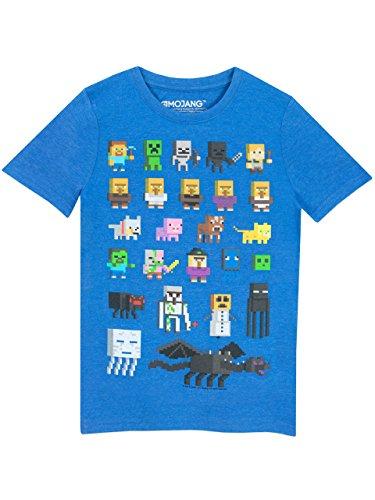 Minecraft - Camiseta para niño - Minecraft - Azul - 5 - 6 Años