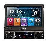 Pumpkin 7 Zoll 1 Din Autoradio Moniceiver DVD Player mit Klappbaren Touchscreen Unterstützt GPS Navi Bluetooth USB SD DVB-T