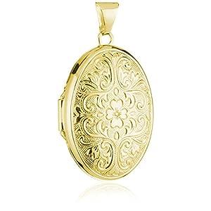 Pasionista Medaillon Sterling Silber silbern vergoldet für Damen und Kinder inkl Geschenk-Etui