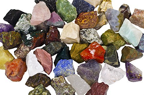 Hypnotic Gems 3 lbs eines bulk-raus asia stein mix - mit 40 exotic steintypen - large 1