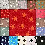 DIE NÄHZWERGE Superflausch Sterne, in 4 Farbkombinationen