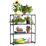 VonHaus 4 Tier Staging Shelving Unit for Garden / Greenhouse - 1 Pack - Shed & Garage Storage Racking