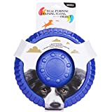 ZNOKA Fetching Frisbee Disc & Drinking Flying Disc Pets Toy EVA Flyer for Dog Puppy Play New Pet Toys (Small, Blue)