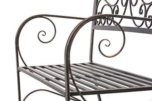 CLP Gartenbank AZAD im Landhausstil, Eisen lackiert, ca 110 x 50 cm Bronze - 8