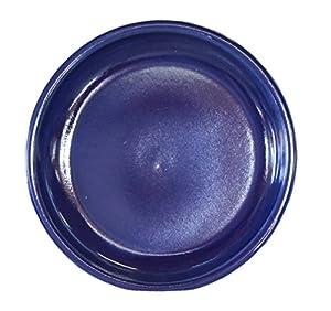 Keramik Untersetzer für Blumen-Topf rund frost-sicher Vogeltränke wasser-dicht Ø 23 x 4 cm Stellfläche 18 cm Form 099.023.64 Effekt-Blau von Hentschke Keramik auf Du und dein Garten