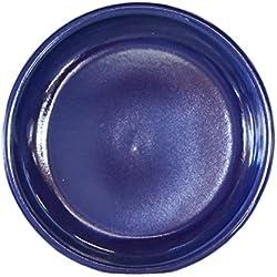 Hentschke Keramik Untersetzer für Blumentopf/Pflanztopf frostsicher Ø 35 x 4 cm, Stellfläche 28 cm, 099.035.64 effekt blauMade in Germany