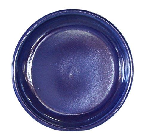 Hentschke Keramik Untersetzer für Blumentopf/Pflanztopf frostsicher Ø 27 x 4 cm, Stellfläche 22 cm, 099.027.64 effekt blauMade in Germany -