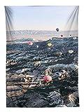 YISUMEI Tapisserie Wandbehang,Türkischer Heißluftballon Wandteppich Wohnzimmer Schlafzimmer Wand Decor Couch Bezug Strandtuch Picknick Tuch,150x230cm