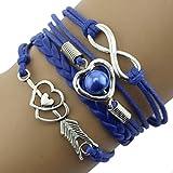 Malloom® Trendy Donne Infinity Amicizia antica sveglia del cuoio del braccialetto di fascino di regalo