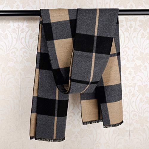 WXL Seidenschals Herrenschals Herbst und Winter Bib Silk/British Business V (Farbe : Khaki) -