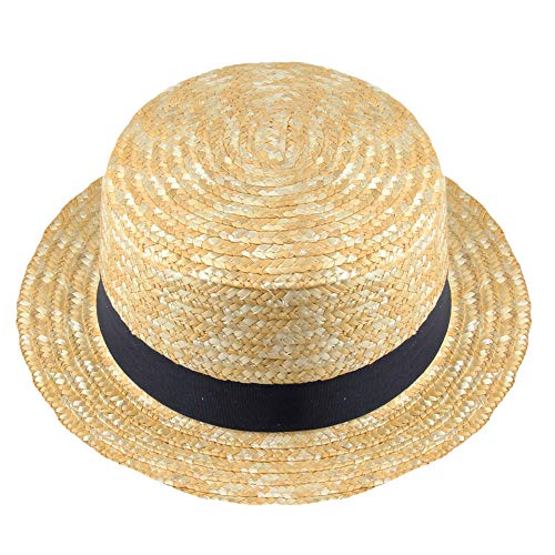 by Robelli Kids Straw Boater Hat...