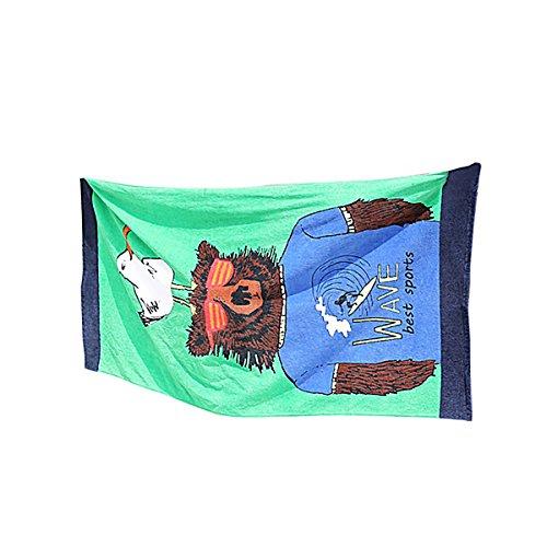 Rainbowie verde gabbiano bear europei e americani stampa stile attività outdoor sport nuoto adulto cotone telo da spiaggia