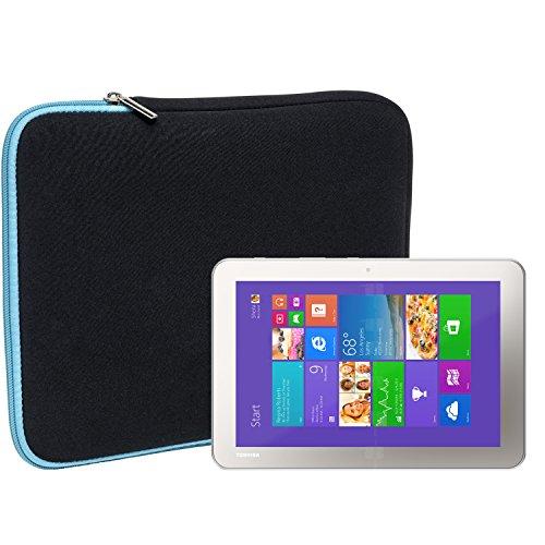 Slabo Tablet Tasche Schutzhülle für Toshiba Encore 2 Hülle Etui Case Phablet aus Neopren - TÜRKIS/SCHWARZ