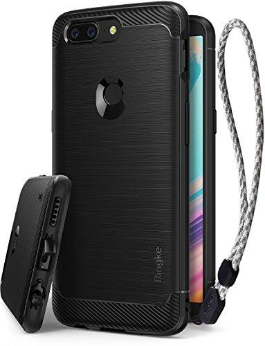 Ringke OnePlus 5T Hülle, [Onyx] Bürste Silikon Handyhülle (Starker Telefonschutz) Flexible Anti-Rutsch TPU Schutzhülle für Das One Plus 5T Hüllen Schwarz Cover Case