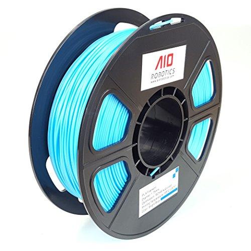 AIO Robotics BRIGHTBLUE PLA 3D Drucker Filament, 0.5 kg Spule, Genauigkeit +/- 0.02 mm, Durchmesser 1.75 mm, Hellblau