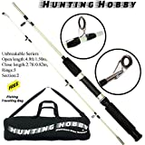 Hunting Hobby Fishing Unbreakable Rod 5 Feet, Free Travelling Bag