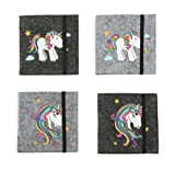 Michel-Toys 10759 Bloc Notes Licorne, Carton, Multicolore, 8,5 x 8,5 x 1,5 cm