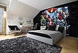 Forwall Fototapete AVENGERS Thor Hulk Iron Man Vlies Tapete 995VEXL 208 cm x 146 cm Wandbild Wand Dekoration Fotomural Design Tapete