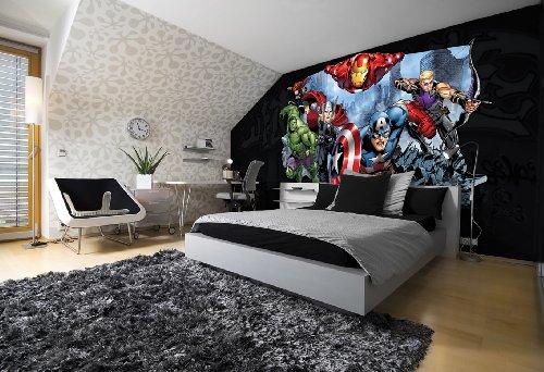 (Forwall Fototapete AVENGERS Thor Hulk Iron Man Vlies Tapete 995VEXL 208 cm x 146 cm Wandbild Wand Dekoration Fotomural Design Tapete)