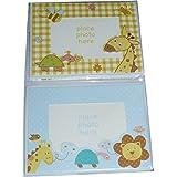 Tarjetas con marco para foto, con diseño infantil de animales, para fotos de 15 x 10 cm, con sobres (paquete de 6)