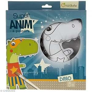 Poupée à peindre : Super anim' : Dino