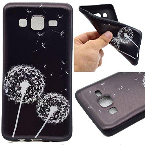 Cozy Hut Handy-Hülle für Samsung Galaxy On5 (2015) weiß / Rein schwarz | Ultra Slim Cover für Samsung Galaxy On5 (2015) Schutz Hülle TPU Case Schutzhülle Silikon Smartphone Case Tasche Dünn Rein schwarz - Löwenzahn