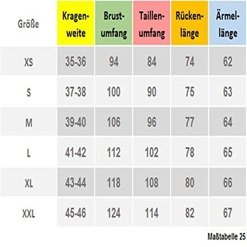 Slim Fit Leinen Hemd beige-ton natur dunkel HUBER-0375 Größe S bis XXL Natur dunkel