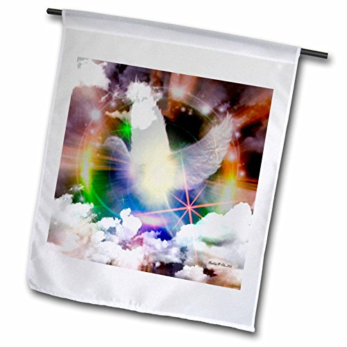 3drose FL _ 6561 _ 1 hinaus Spirituelle light-bird-dove Art, Garden Flagge, 12 von 18