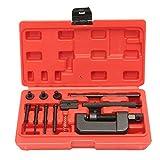 Baugger Kit de herramientas de remachado de cadena - Juego de herramientas de fijación de remache de enlace de divisor de cadena de bicicleta de motocicleta