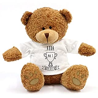 grabmybits Auda - Worlds Best Mum Teddy Bear - Gift For Mothers Day