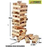 [Sponsored]TOY-STATION 48 Pcs Blocks Wooden Tumbling Stacking Jenga Building Tower Game