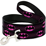 Buckle Down dl-wbm163 schwarz/Hot Pink Batman Pet Leine, 4 Füße Long-1 cm breit